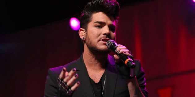 Adam Lambert performs at the Fresh 102.7 Fall Fest at the Theater at Madison Square Garden on Thursday,...