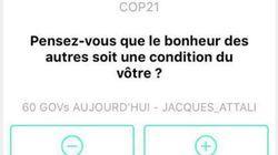 Cette application propose d'afficher vos idées sur la COP21 dans la
