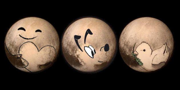 PHOTOS. Pluton inspire les internautes en attendant la diffusion des meilleures images jamais prises...