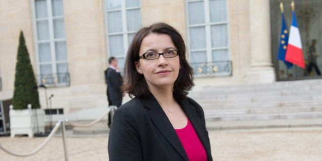 French Minister for Equality of Territories and Housing Cecile Duflot leaves the Elysee presidential...