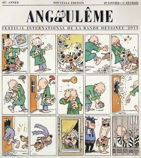PHOTO. Angoulême 2015: Bill Watterson, le papa de Calvin & Hobbes, a dessiné l'affiche du