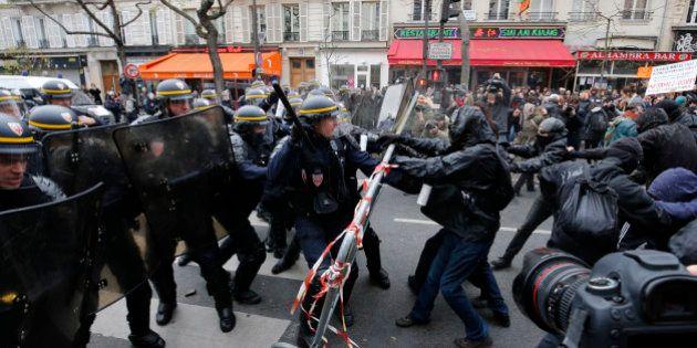 Prison ferme pour un manifestant interpellé dimanche en marge de la