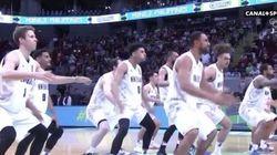 Le haka version basket face aux Bleus de Tony