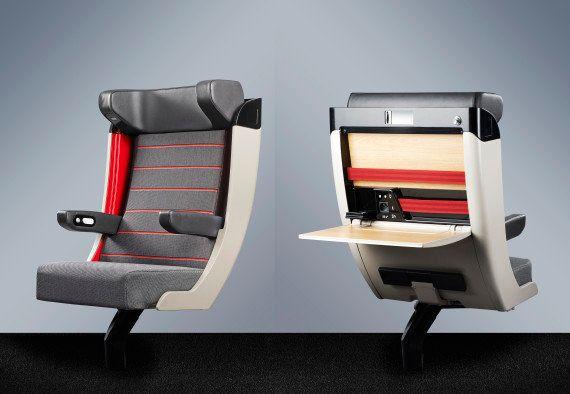 PHOTOS. Les futurs sièges des TGV dévoilés par la SNCF au Palais de