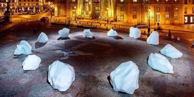 PHOTOS. Une horloge de glace signée Olafur Eliasson devant le Panthéon à