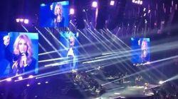 Céline Dion annonce le penalty de Griezmann en plein