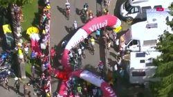 La flamme rouge du Tour de France s'écroule sur les