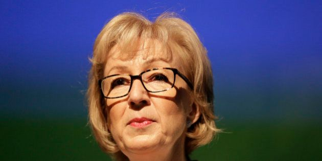 Andrea Leadsom, a candidate to succeed David Cameron as British prime minister, speaks at a news conference...
