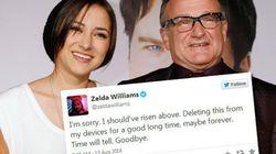 Écœurée, la fille de Robin Williams arrête Twitter et