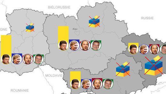 Présidentielle ukrainienne: le combat des régions dans les
