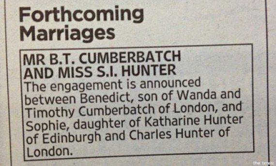 Fiançailles de Benedict Cumberbatch: Sophie Turner de