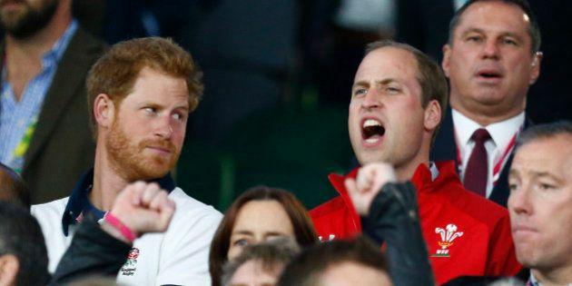 PHOTOS. Rugby: pour Angleterre - Pays de Galles, les princes Harry et William frères ennemis le temps...