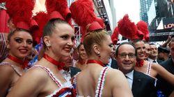Bain de foule et repas de déchets pour Hollande à New
