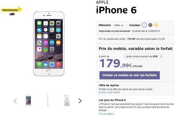 iPhone 6: les prix avec forfaits chez Orange, SFR, Free, Bouygues