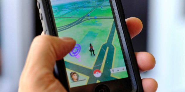 Pokemon Go is displayed on a cell phone in Los Angeles on Friday, July 8, 2016. Just days after being...