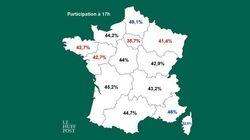 La participation en nette hausse, surtout dans les régions visées par le