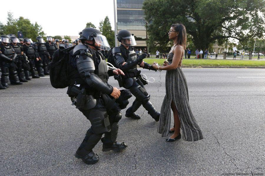 L'histoire derrière cette photo d'une manifesation Black Lives Matter à Bâton