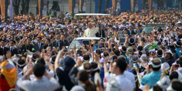 Le pape en Corée du Sud pour son premier voyage en