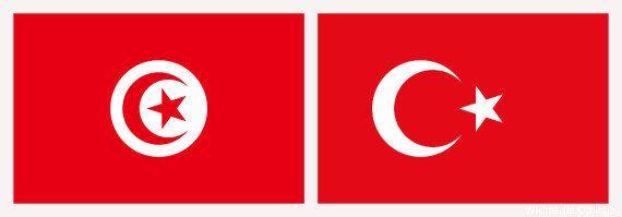 Les drapeaux de la Tunisie et de la Turquie confondus par le service de presse de