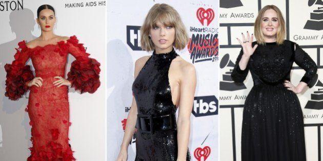 Adele, Taylor Swift, Katy Perry... qui a gagné le plus en un