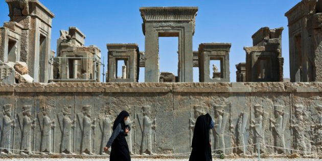 Iran, Fars Province, Persepolis, listed as World Heritage by UNESCO, Palace of Darius