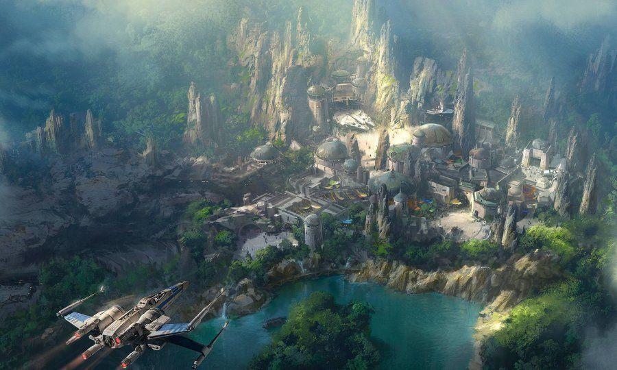 La première image du futur parc Star Wars Land dans sa