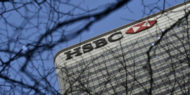 The HSBC headquarters is seen in the Canary Wharf financial district in London, Britain February 15,...