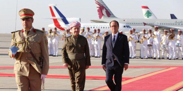 En Irak, François Hollande promet plus d'aide militaire et un pont humanitaire pour les