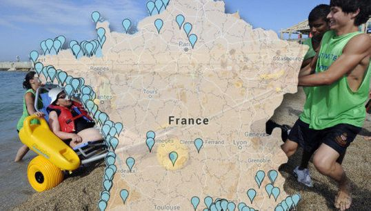 La carte des 212 plages de France accessibles aux