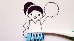Elle réalise de jolies illustrations à partir d'objets du