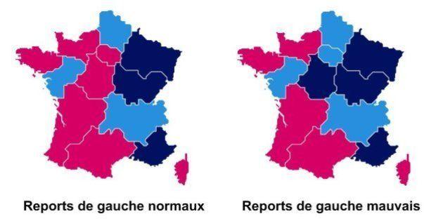 Elections régionales: la carte des reports de voix à géométrie
