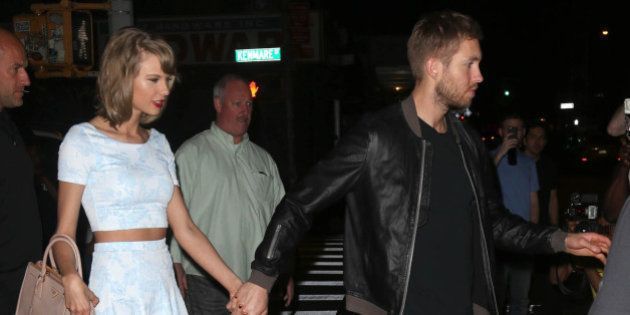 Photo by: KGC-146/STAR MAX/IPx 5/26/15 Taylor Swift and Calvin Harris are seen in New York City.