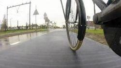 La première piste cyclable solaire au