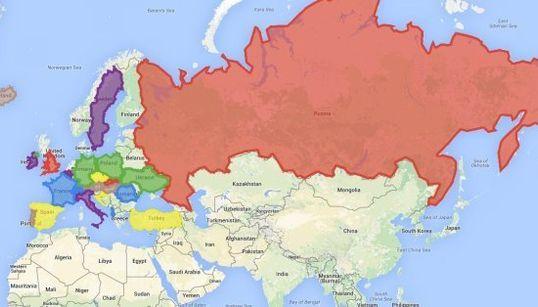 La carte des 6 groupes de l'Euro