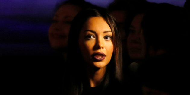 Model and reality TV personality Nabilla attends the presentation of Jean-Paul Gaultier's ready-to-wear...