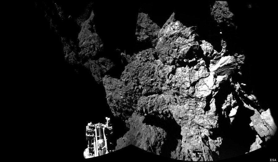 Philaé atterrisseur : première photo envoyée depuis la comète par le robot de