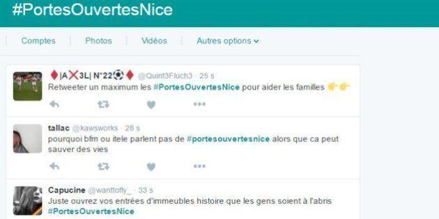 Après l'attaque au camion à Nice, le hashtag #PortesOuvertesNice émerge sur