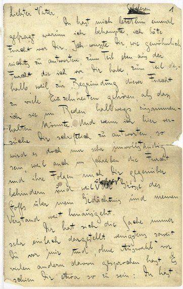 Lettre de Kafka à son père: