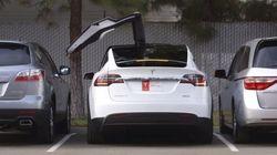 La Tesla X propose un bouton de