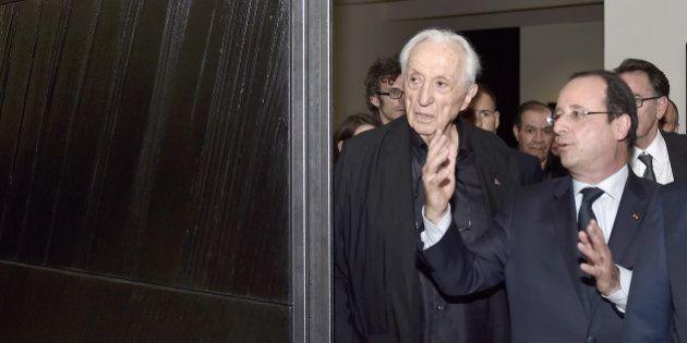Musée Pierre Soulages à Rodez: François Hollande à l'inauguration du premier musée au nom du