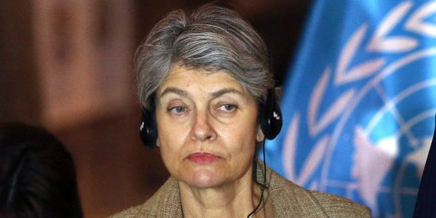 FILE - In this Nov. 2 2014 file photo, Irina Bokova, the Director-General of the United Nations Educational,...