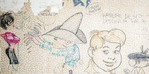 PHOTOS. Des dessins originaux de Franquin, Peyo et Roba retrouvés sous du