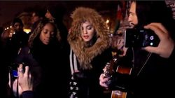 Revivez le concert hommage improvisé de Madonna place de la