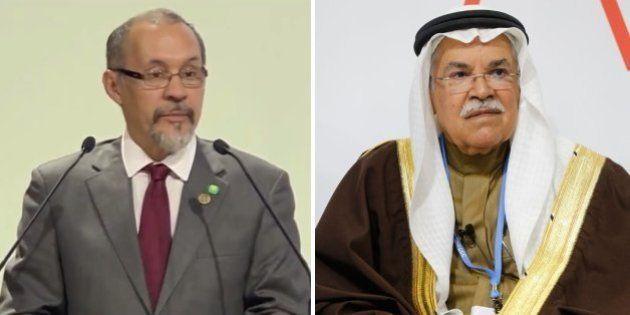 Voici Guillermo Barreto et Ali al-Naimi, les deux hommes qui ne veulent pas de l'accord à la