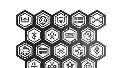 Il réinterprète les logos des 27 (anciennes) régions de