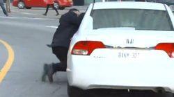 VIDÉO - À Toronto, les manifestations des taxis contre Uber