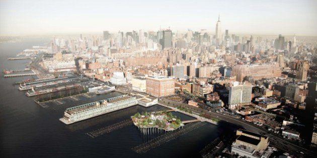 PHOTOS. À New York, ce parc flottant sur l'Hudson River pourrait devenir