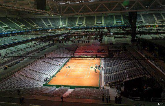 PHOTOS. Finale de la Coupe Davis à Lille: comment le stade Pierre Mauroy s'est transformé pour la rencontre