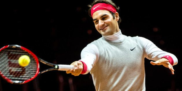 Finale de la Coupe Davis France/Suisse: Roger Federer s'est entraîné pour la première