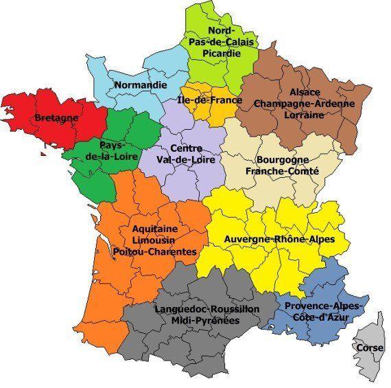 Réforme territoriale : la carte des 13 régions adoptée en deuxième lecture à
